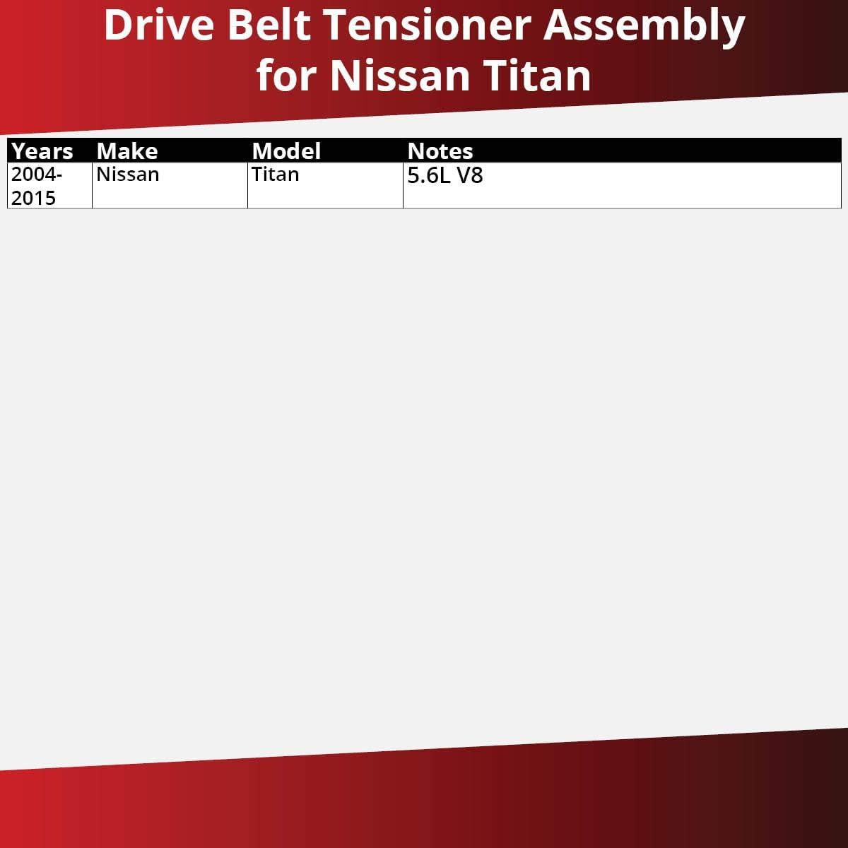 Tensioner Alternator Pump Accessory System Dayco Drive Belt Pulley for 2004-2015 Nissan Titan 5.6L V8