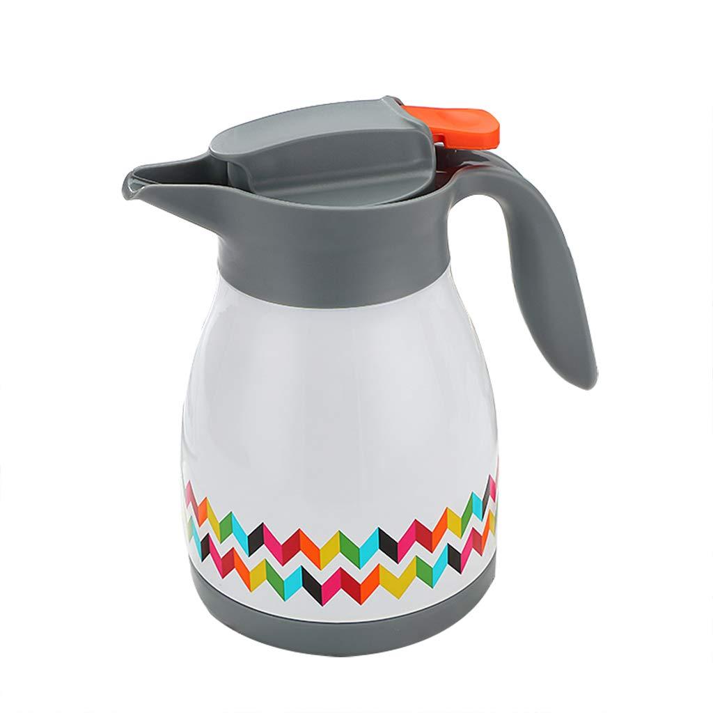 FYCZ Thermoskannen, Haushalts-Kaffeekanne-Wasserkocher, Weiblicher Großer Kapazitäts-Edelstahl-Wasserkocher 1L (Weiß)