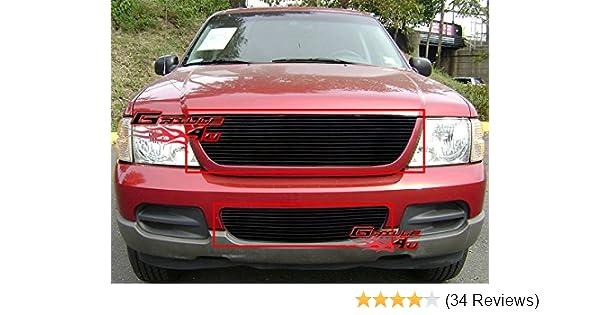 APS Fits 2002 2005 Ford Explorer Black Billet Grille Combo F87989H