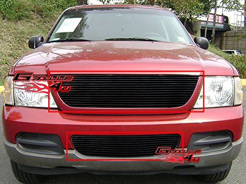 2002 Ford Explorer Grill - APS Compatible with 2002-2005 Ford Explorer Black Billet Grille Combo F87989H