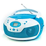Tyler Portable Neon Blue Stereo CD Player with AM/FM Radio and Aux
