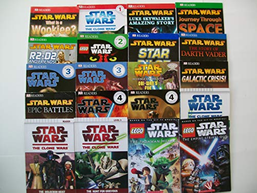 Star Wars Readers DK Series + Clone Wars & Lego Books (Set of 14 DK + 6 More) Star Wars Assorted Set of 20 Leveled Readers L1, L2, L3, L4 -- See Description for All Titles (Sets 2005 Star Lego Wars)