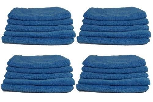 20 Stück Mikrofasertücher EXTRA STARK Auto Putztuch Poliertücher 40 x 40 cm blau