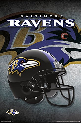 Trends International Baltimore Ravens Helmet Prints, 22.375