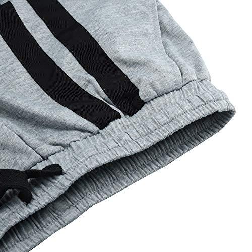 Sportivo Grigio Da Inverno Pantaloni Yunyoud E Lasciami Lavoro Uomo Taschino Pantalone Autunno Più Casual Camicetta d6qqXtzx