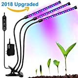 Cheap TaoSky Three Head Grow Light 54LEDs Clip on LED Plant Grow Lamp with Flexible 360 Degree Gooseneck and Three Separate Control Switches for Indoor Plants Hydroponics Greenhouse Organic Office Home
