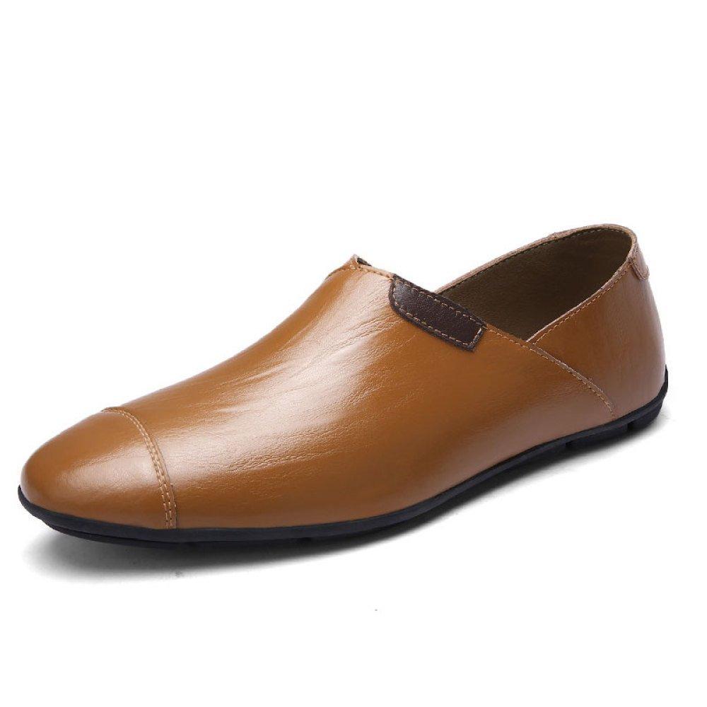 Zapatos De Cuero para Hombres Zapatos De Playa Zapatos Casuales Zapatos Perezosos De Moda 46 EU|Brown