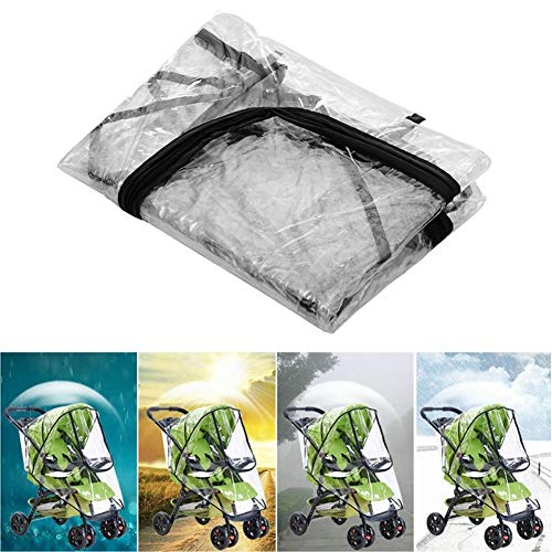 Waterproof Stroller Raincover - Raincoat Stroller Prams Cart Dust Rain Cover Universal for Baby Stroller Pushchairs Shield Protector Accessories Carriages