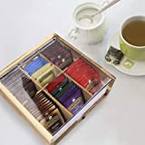 Acacia Wood Tea Bag Organizer Storage, 6