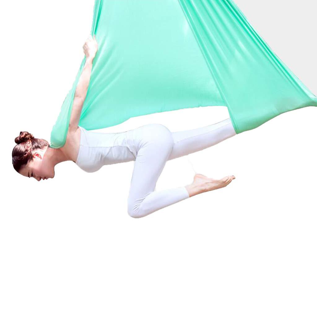 空中ヨガハンモック エアリアルヨガハンモック反重力エアリアルヨガ室内空中ダンスヨガカン空中ヨガスイングヨガ倒立運動空力フィットネス機器、ハンモック長さ5m、幅2.8m (Color : Green, Size : 280*500cm) 280*500cm Green B07LG4M27J