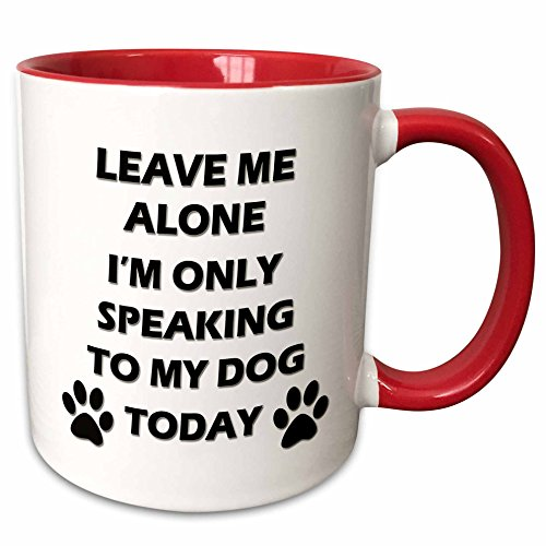 Leave Me Alone, Mug, 11 oz, Red