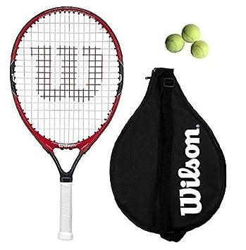 Wilson Federer Junior 19,21,23,25,26 raqueta de tenis + 3 ...