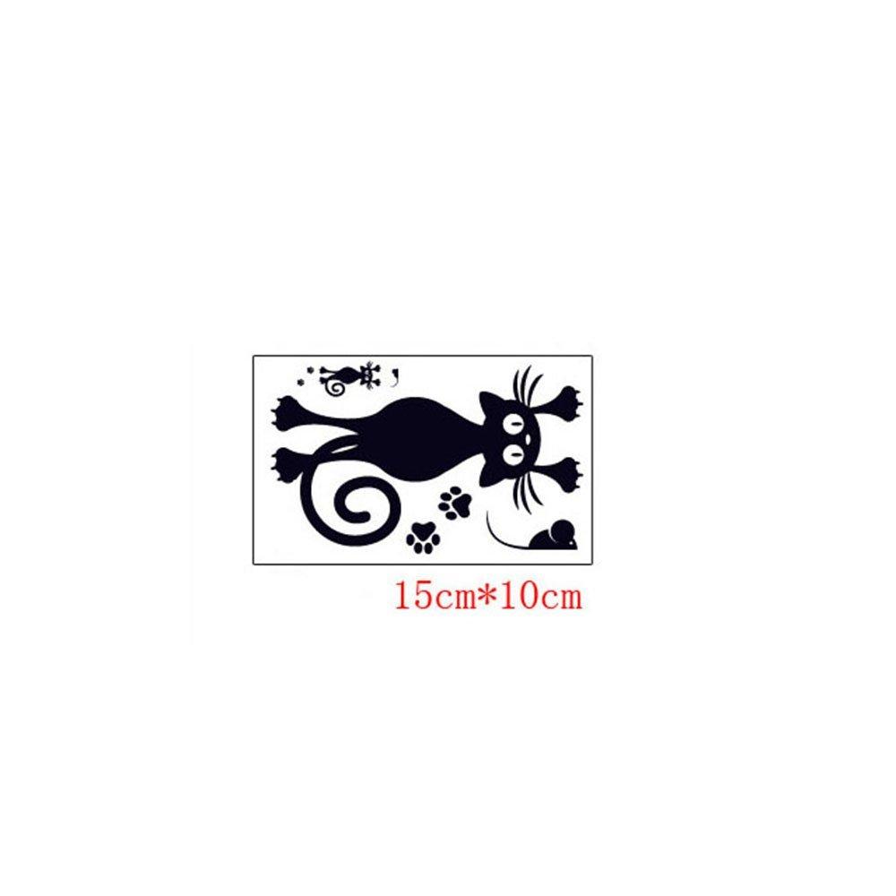 ufengke Dos Gatos Negros Enamorados Pegatinas de Interruptor con Corazones Rojos DIY Extra/íbles Vinilos de Pared para sal/ón Habitaci/ón ni/ños