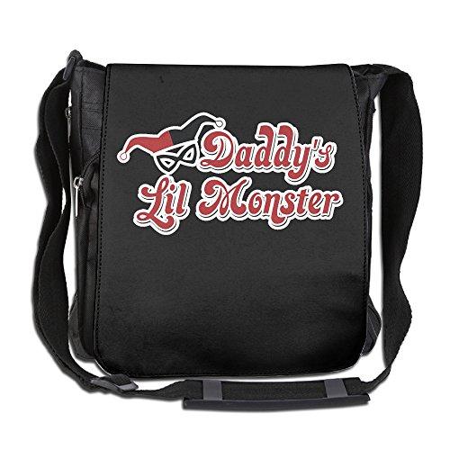 Cavn Daddy's Lil Monster Harley Quinn Logo Canvas Messenger Bags Shoulder Bag Bookbag School Bag