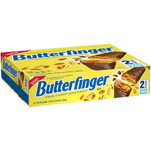 Nestle Butterfinger Chocolate Candy bar Share Pack, 3.7 oz Candy Bars (Pack of 18)