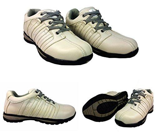 de 8 para zapatos HIKER con hombre inoxidable Gris 42 Blanco de UK acero Starex tobillo EUR deporte de Gorra para zapatillas talla xP0Uqcpzw