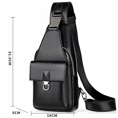 Bolso Coreana ZQ Bag Bolso para Backpack The Messenger Chest Hombre Tide de Nueva Bag Casual 2018 Versión Hombre Small Bolso para BXZAfxqZw