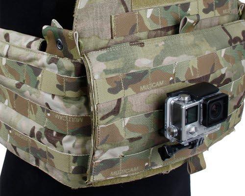 Chaleco Táctico Molle base de soporte de montaje Soporte para GoPro Hero 8 7 6 5 3 4 Cámara