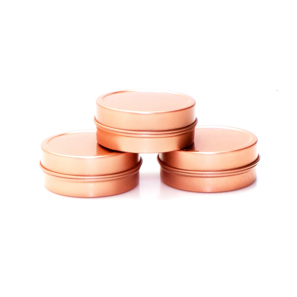 Mimi Pack ALL Shallow Solid Slip Top Tins (8 oz, Rose Gold) by Mimi Pack (Image #2)