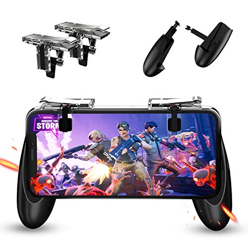 Mobile Game Controller -Game Trigger Gamepad, Ergonomic Design Handle Handgrip Stand Claw for iOS Android (Transperant) for Fortnite PUBG