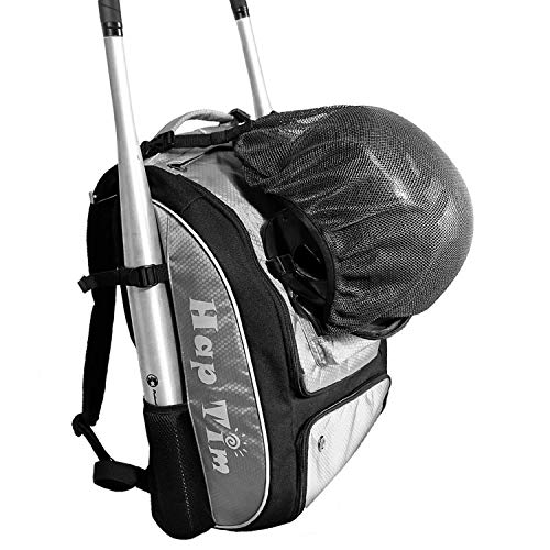 (Hap Tim Baseball Bag/Softball Bag - Bat Bag Backpack for Kids Girls Youth Adults -Large Capacity Baseball/Softball Backpack with Separate Shoe Compartment (BQ1001-G))