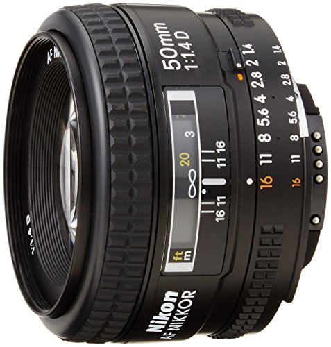 Nikon AF FX NIKKOR 50mm F/1.4D DSLR Lens with Auto Focus for Nikon DSLR Cameras (Lock Lens Aperture Ring At Minimum Aperture D3100)