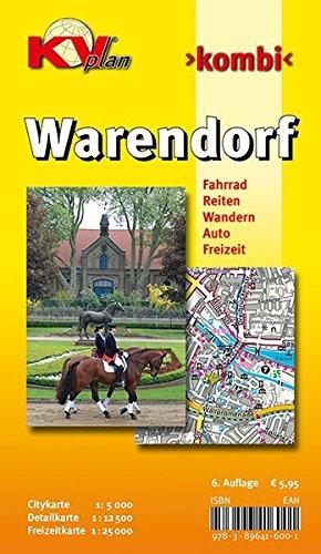 Warendorf: 1:12.500 Stadtplan mit Freizeitkarte 1:25.000 inkl. Rad-, Reit-, und Wanderwegen zzgl. Cityplan 1:5.000 (KVplan Sonderausgaben)