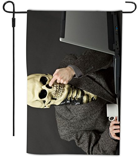 Rikki Knight Skeleton Picking Nose Design Decorative Hous...