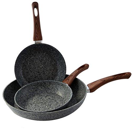 Venga Granit Bratpfanne Pfanne 20cml Antihaft Induktion Wood Line Brat- & Universalpfannen