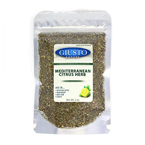 Giusto Sapore Mediterranean Citrus Herb Seasoning - Premium Gourmet Brand - Imported from Italy and Family ()
