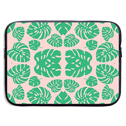 (Ysikfk 13-15 Inch Laptop Case Sleeve with 8' Kingman Drive Green & Pink Silhouette Fabric (515) Printing Design Fits Laptop,)