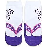 ベビー キッズ 子供用 足袋 草履風 靴下 ソックス 女の子 紫色 7-10cm 40953806PU7-10
