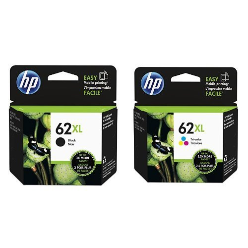 Genuine HP 62XL Black and Color Inkjet Cartridges in Retail Combo Pack from HP 62XL