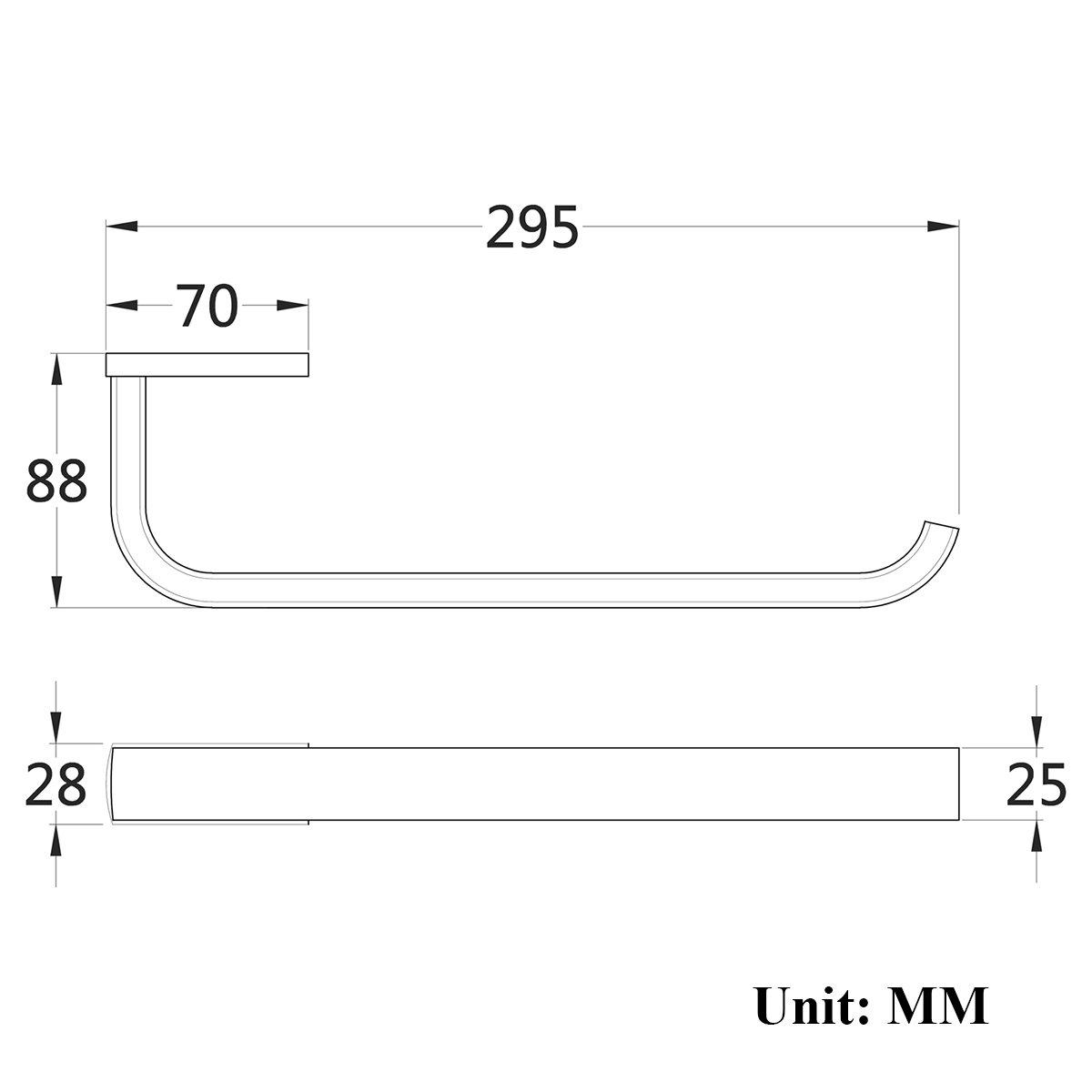 YingQ Modern Wandhaken aus Kupferlegierung Kleiderhaken matt Schwarz Geb/ürstet und Handtuchhaken Wandmontage f/ürs Bad und T/ür