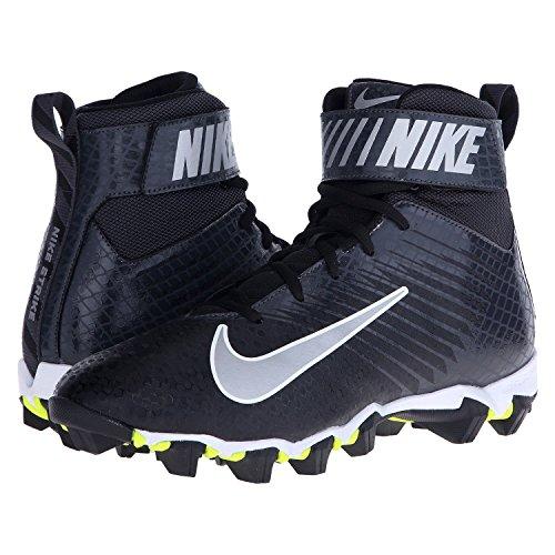 Nike Strike Shark Football Cleat (11.5, Black/ Metallic Silver-anthracite)