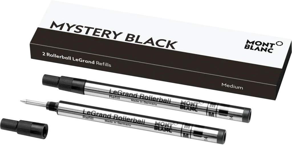 Montblanc 105164 Recambios de punta mediana para bolígrafos Meisterstück LeGrand Rollerball, color Mystery Black, 1 Paquete