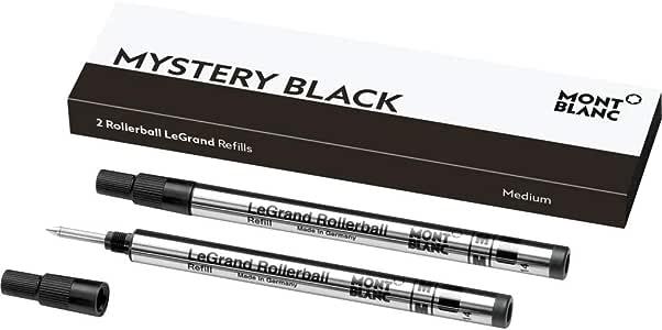 Montblanc Rollerball LeGrand Refills (M) Mystery Black 105164 – Pen Refills for Meisterstück LeGrand Rollerball Pens with a Medium Tip – 2 x Black Pen Cartridges