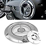 TUINCYN Motorcycle Engine Derby Timing Cover Set Chrome for Harley 1999-2014 Harley Twin Cam Touring Road King Electra Glide FLHR FLHX FXST Dyna