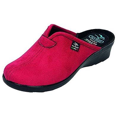 11ef1365af6392 FlyFlot Womens Slippers Velo Urett PU Sole Red Size: 6.5: Amazon.co ...