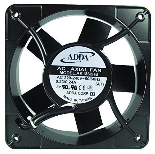 ADDA AK1861HB-AT AXIAL FAN, 180MM x 180MM x 65MM, 115VAC, 500MA by Adda