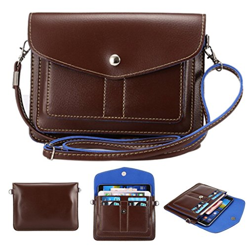 - Universal Fashion Soft PU Leather Cell Phone Bag Purse Case Cross Body Wallet Pouch with Shoulder Strap & ID Cards Holders for Carrying iPhone6s/6s plus/6/6 Plus/5s and Samsung Series Phones(Coffee)