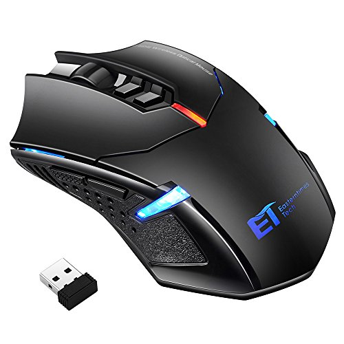 Habor Wireless Mouse 2.4G Wireless Gaming Mouse with Nano USB Receiver, 5 Adjustable DPI Levels, 7 Buttons Optical Mouse for PC Laptop MacBook Notebook