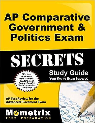 AP Comparative Government & Politics Exam Secrets Study Guide: AP ...