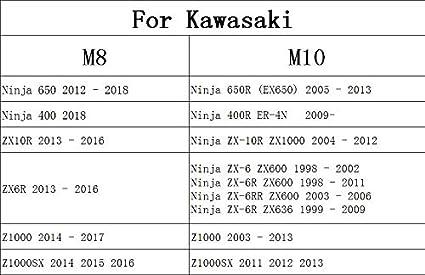 M6 Acier Inoxydable Diabolos Bobines pour Yamaha MT01 MT03 MT09 MT10 YZF R1 R3 R6 R25 R125 R1000 R6S FZ1 FZ6 FZ8 FZS 1000 600 YZF600rsc RSV4 R Tuono V4 R Dorsoduro B