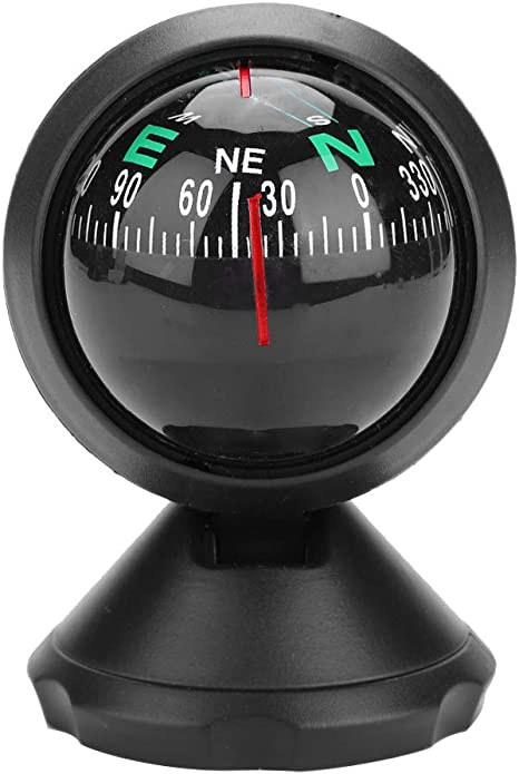 Sanon Autokompass Neigungsmesser Autoführer Kugelwinkel Steigungspegelmesser Sucher Balancer Messgerät Für Auto Fahrzeug See Marine Boot Schiff Outdoor Reise Auto