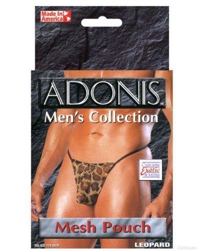 """Adonis Men""""s Mesh Pouch Leopard O/S"""