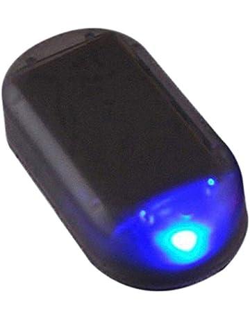 Republe Coche antirrobo de luz LED Auto lámpara de Alarma de energía Solar de energía de