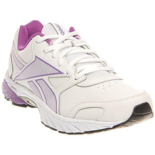 Reebok Triplehall Running Shoe White Party Purple Silver Womens Size 9 M fda1c