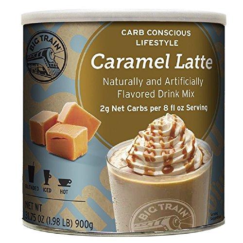 Big Train Low Carb Blended Ice Caramel Latte Mix 1.98 lb (Big Train Low Carb)