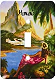 3dRose lsp_130401_1 Hawaiian Vintage Travel Poster.Jpg Single Toggle Switch
